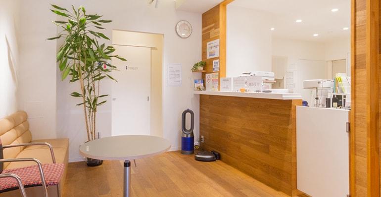 健診専用フロアと待合室の完備